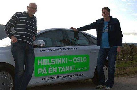 Knut Wilthil og Henrik Borchgrevink kom enda lenger enn beregnet - og presset forbruket til Mondeoen under 0,28 liter/mil.