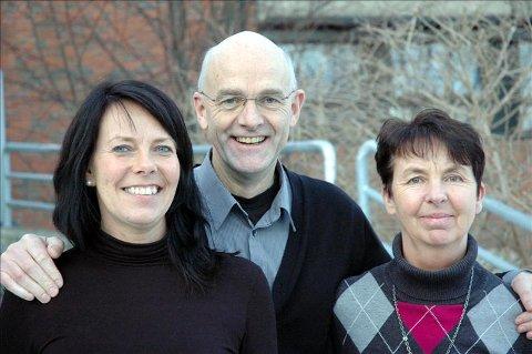 Gleder seg: Faglærer Dina Gaupseth (til venstre), rektor Bjørn Johannessen og fagkoordinator Gunhild Bergem gleder seg til nytt tilbud fra høsten 2011.
