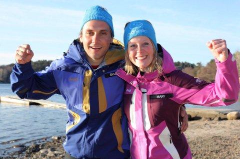 DØLAOPPGJØR: Mari Wedum fra Øyer over  Erlend Rønning fra Lillehammer i finalen i 71 grader nord.