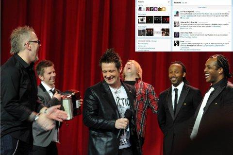 Plumbo skapte storm på Twitter. Her med vokalist Lars Erik Blokkhus og Tshawe i bakgrunnen.