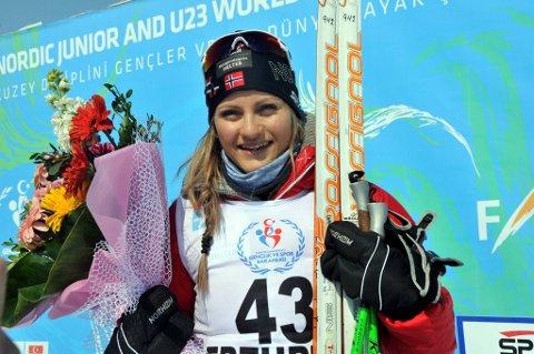 Martine Ek Hagen tok gull i junior-VM.
