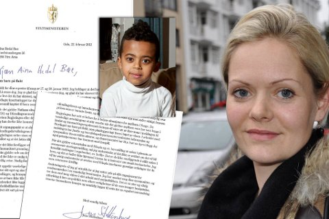 Da Aina Heldal Bøe skrev et personlig brev til Jens Stoltenberg om sønnens bestekamerat Nathan (6), fikk hun et personlig svar på to sider tilbake.