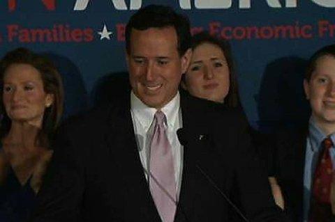 Rick Santorum varsler valgkamp med full styrke i ukene som kommer.