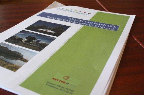 Handlingsplanen for Helgeland Havn IKS har ambisjoner langt utover rein havnedrift.