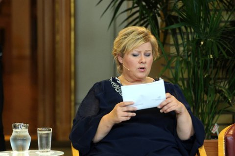 Erna Solberg får kritikk.