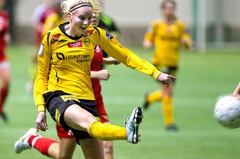 GOD: Cecilie Pedersen storspilte i sin første kamp for LSK kvinner. ARKIVFOTO: ROAR GRØNSTAD