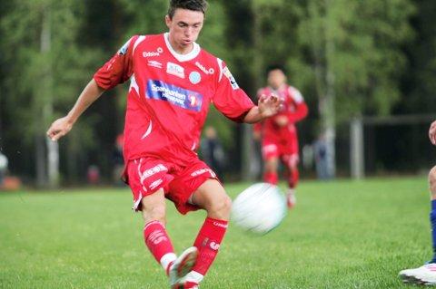 Patrick Hansen scoret tre mål mot Moelven.