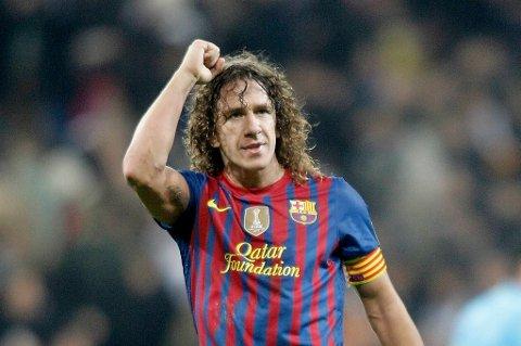 Forsvarsklippen Carles Puyol tåler ikke gult kort mot Chelsea.