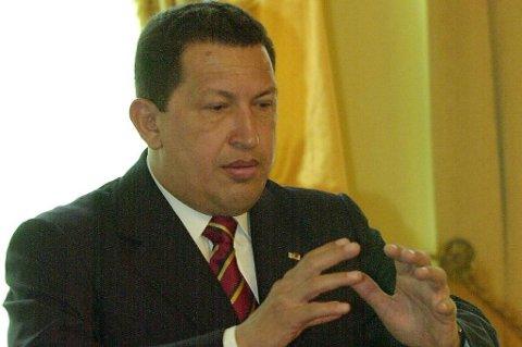Venezuelas president Hugo Chávez.