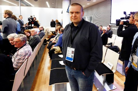 Tor Inge Kristoffersen i sal 250 i Oslo tinghus tirsdag på syvende dag av rettssaken der Anders Behring Breivik står tiltalt for terrorangrepet i Oslo og på Utøya 22. juli 2011.