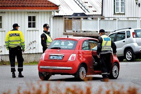 Føreren av denne bilen hadde full kontroll.