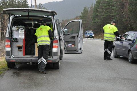 Statens vegvesen kontrollerte 380 bilar på Husnes måndag. (Illustrasjonsbilde).