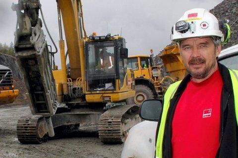 MER TYVERI: Veidekke og formann Tom Myrbråten er igjen blitt utsatt for dieseltyveri på anlegget i Kongsvinger.