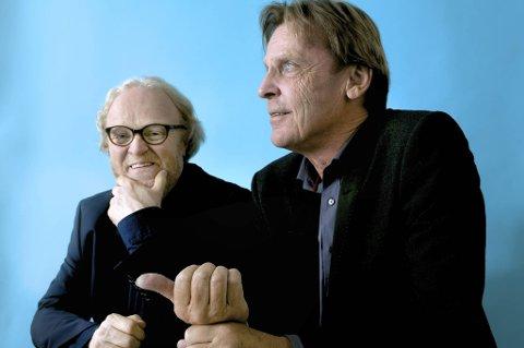 Viggo Sandvik og Gøran Fristorp gleder seg til samarbeidet som skal bringe dem til store deler av Norges land. Det er Taube og Prøysen som står i høysetet, samt eget materiale.