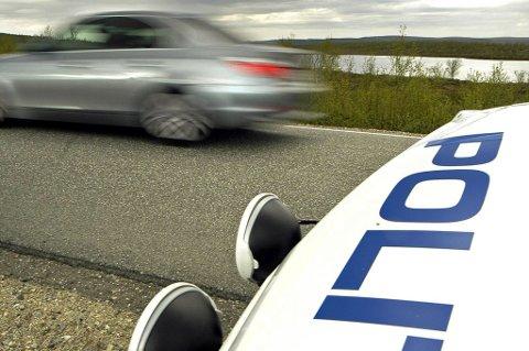 Den unge mannlige føreren hadde svært stor fart da han ble observert av Up.