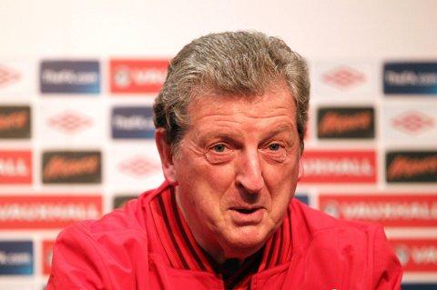 Roy Hodgson var i godt humør på pressekonferansen før kampen mot Norge.