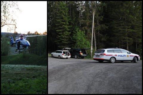 STORT SØK: Politiet har satt inn både redningshunder og politihelikopteret i søket etter den 17 år gamle jenta. BEGGE FOTO: VIDAR SANDNES