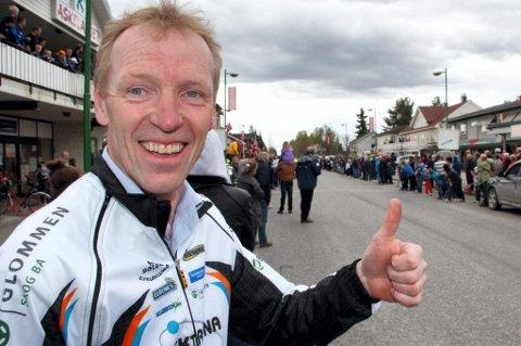 Leder i Solør Cykleklubb, Per Ivar Antonsen, ser fram til sykkeldag for store og små. Dette bildet ble tatt under Tour of Norway.