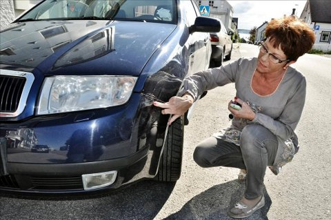 Tre ganger har bilen til Venke Hasselø blitt skadet uten at noen har gitt beskjed.