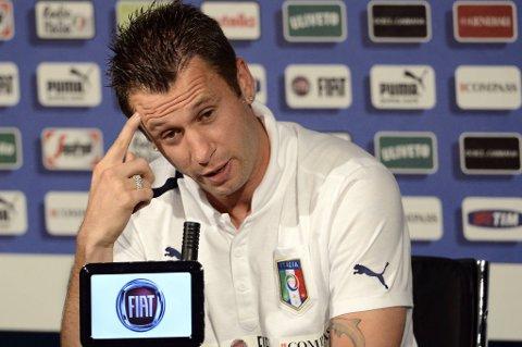 Antonio Cassano kom med kontroversielle uttalelser på en pressekonferanse tirsdag.