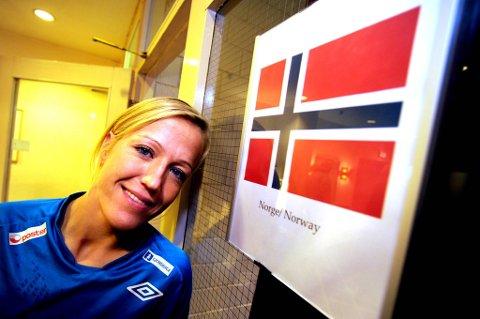 Heidi Løke scoret fire mål i kampen mot Sverige.
