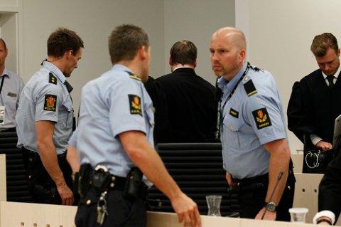 Anders Behring Breivik forlater rettssal 250 for siste gang.