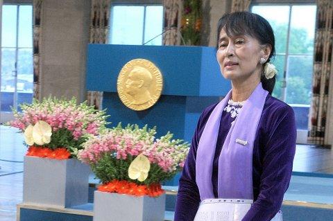 Aung San Suu Kyi kommer til Frankrike tirsdag.
