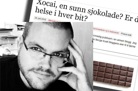 TRUET: Bloggeren Gunnar Tjomlid er en av bloggerne Sjokoservice Norge har truet med millionsøksmål.