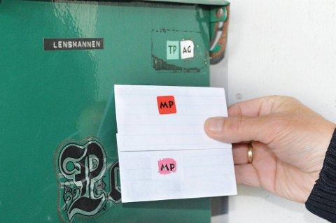 Vær oppmerksom: Finner du merker på postkassen som du ikke kjenner til, bør disse straks fjernes.