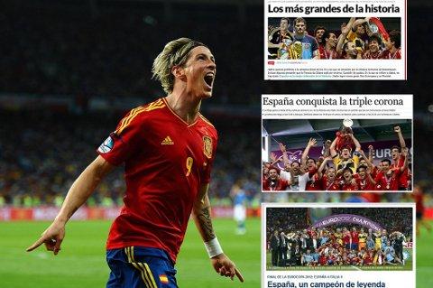 Spanske medier roste Torres og resten av de spanske spillerne i skyene etter den sterke 4-0-seieren.