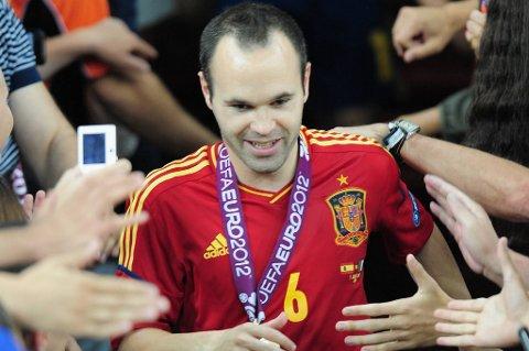 Andrés Iniesta ble kåret til EMs aller beste spiller.