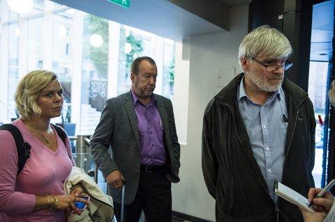 Hilde-Marit Rysst, leder i fagforbundet Safe (t.v.) og Leif Sande, leder i i Industri og Energi (t.h.).