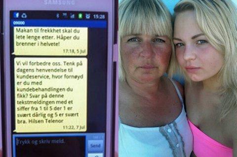 Mamma Mette Fredriksen kan ikke forstå hvordan Telenor kunne skrive slike meldinger til en 16-åring.