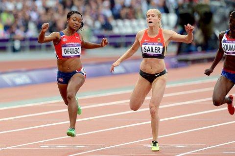 Ezinne Okparaebo løp seg videre på 100 meter i OL med ny norsk rekord på 11,14.