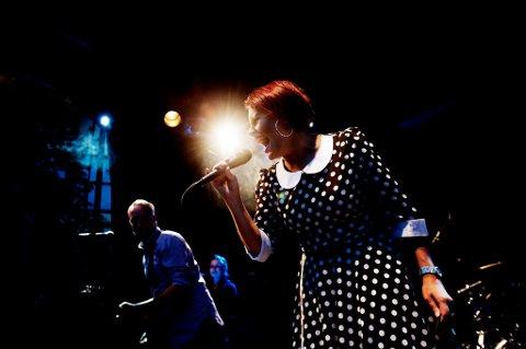 TESTET: Stina Stenerud & Her Soul Replacement  testet låter foran publikum på Jessheimdagene. FOTO: MARTIN LUNDSVOLL