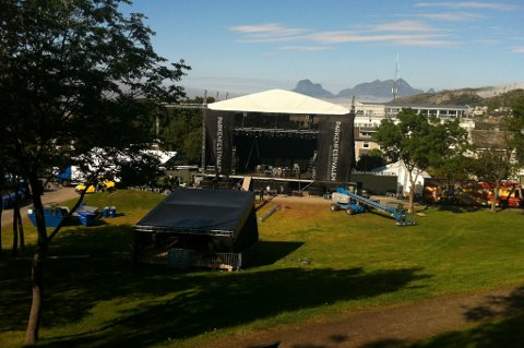 Parkenfestivalen er høydepunktet for mange. Slik ser det ut dagen før dagen.