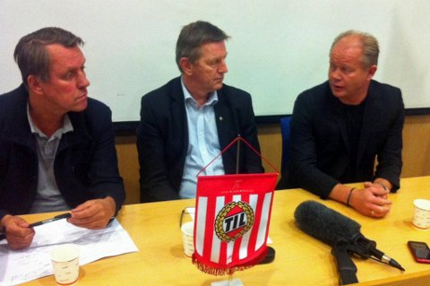 Gunnar Wilhelmsen, Bjørn Nilsen og Per Mathias Høgmo annonserte sistnevntes avgang i dag.
