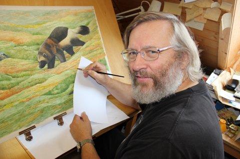 For 17. året på rad malte Viggo Ree akvarellen til årets Friluftspris.
