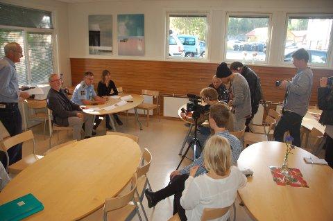 Pressekonferanse i kommunehuset klokka 10.30