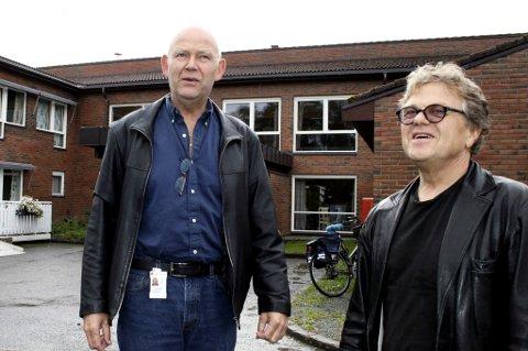 VIL HIT: Både enhetsleder ved Halsen sykeheim, Terje Johnsen (t.v.) og Lars-Eirik Nordbotn mener en samlokalisering av ambulanse, DMS og legevakt i eller ved Halsen sykeheim vil være en god løsning.