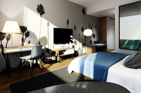 SOVEROM: Et av mange typer soverom i hotellet.