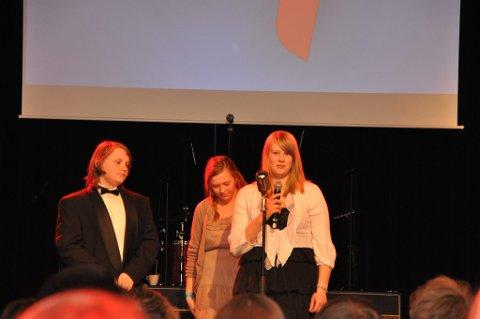 """Filmskaperne bak """"Voggesangfuglen"""", som fikk årets fagpris. F.v. Vegard Opkvitne Årnes, Julie Slåen og Vilde Tangnes."""