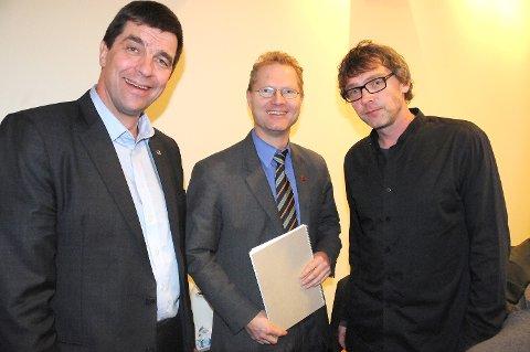 OPPFØLGING: Ordfører Bersvend Salbu forventer oppfølging av regjeringspartiene for å få penger til Tynset-arkivene i løpet av året. Her er Salbu fotografert sammen med stortingsrepresentantene Gunnar A. Gundersen (H) og Tor André Johnsen (Frp).