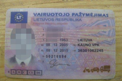 KJØPTE NYTT: Da litaueren mistet førerkortet på grunn av promillekjøring, kjøpte han seg bare et nytt. FOTO: STATENS VEGVESEN
