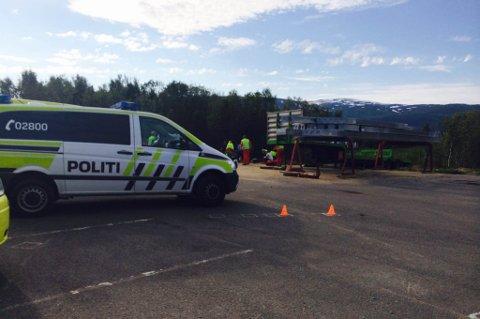 ULYKKE: Det var i forbindelse med øvelseskjøring med motorsykkel av ulykken fant sted, her på Håpet i Tromsø.