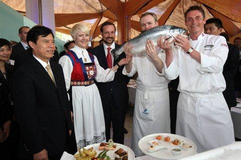 Den norske restauranten på EXPO i Shanghai satte besøksrekord lørdag.
