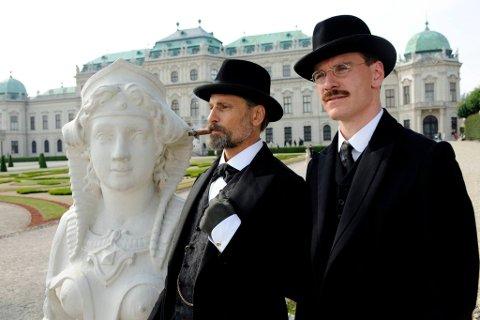 Psykiatere på spasertur: Viggo Mortensen som Sigmund Freud (t.v.) og Michael Fassbender som Carl Gustav Jung i David Cronenbergs nye film «A Dangerous Method».