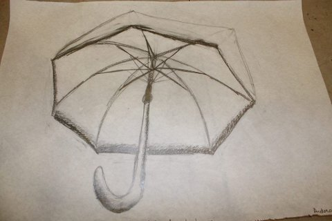 Å tegne en paraply er ikke bare enkelt.
