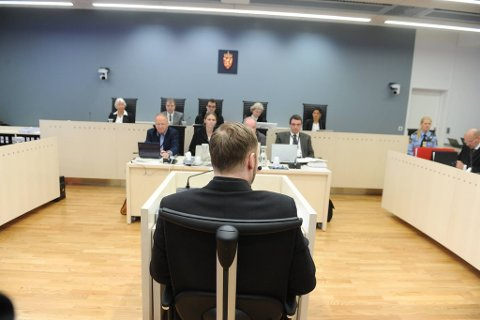 Anders Behring Breivik under dag 5 av rettssaken.