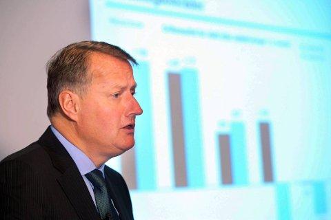 Rune Bjerke la fredag fram rapporten for første kvartal, som viste en nedgang på en milliard fra samme tid i fjor.